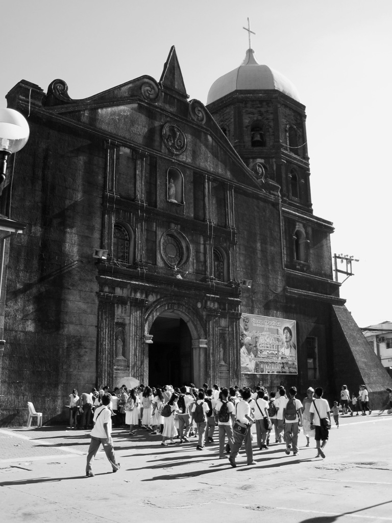 San Pedro Calungsod  St Andrew's Cathedral, Paranaque City, Philippines  - Present-day Filipino youth were gathering to meet their fellow teenager; the newly canonized 17-year-old St Pedro Calungsod inside the cathedral as the latter's blessed icon is being toured around the Philippines after its arrival from Saint Peter's Basilica, Vatican City.   St. Pedro Calungsod was also hailed as patron saint of Filipino youth as he succumbed during his juvenility.  (Photograph by Bernard Eirrol Tugade)