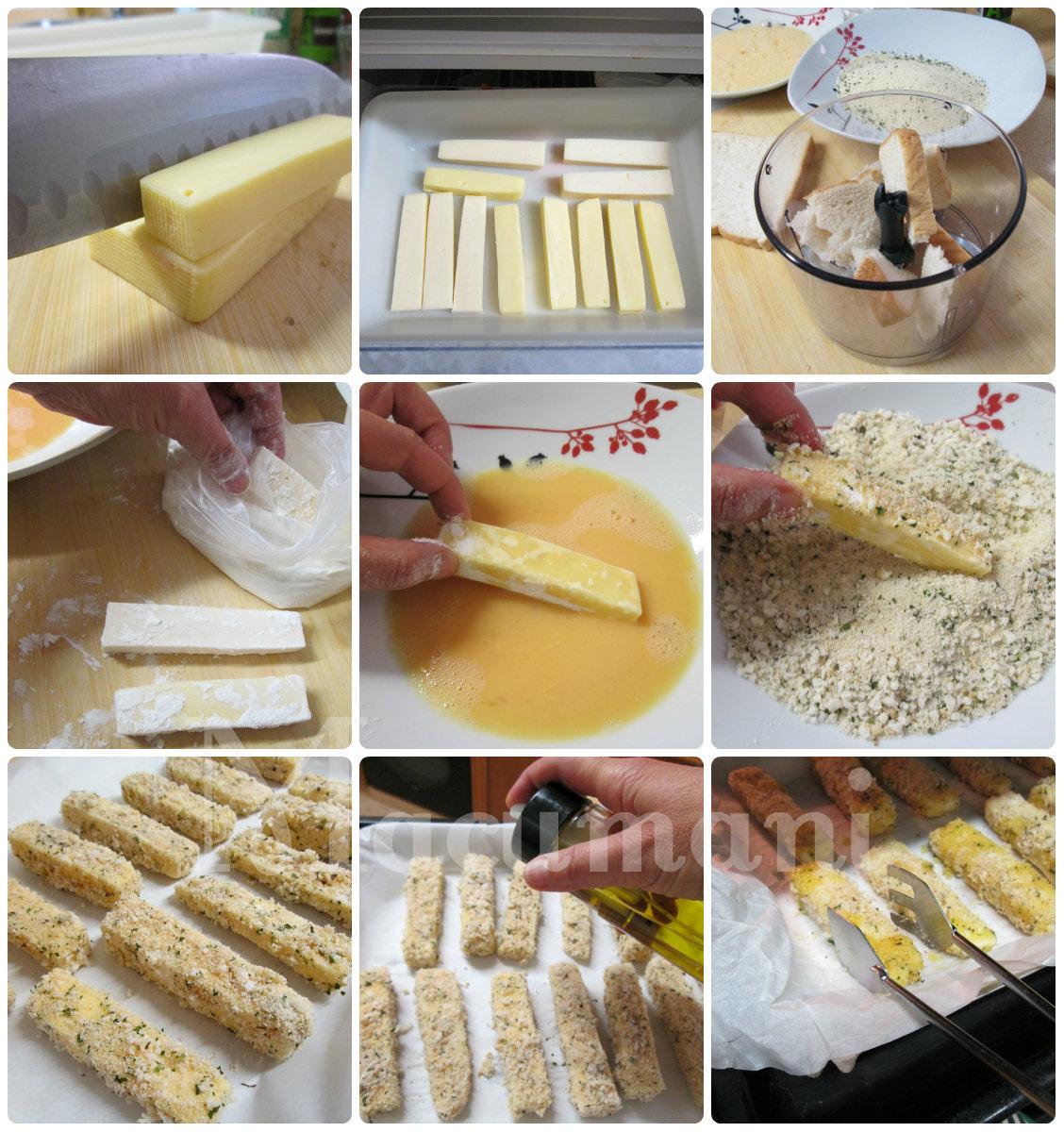 como hacer fingers de queso