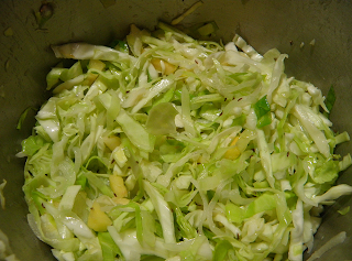 Cider Braised Cabbage and Apples in Pot