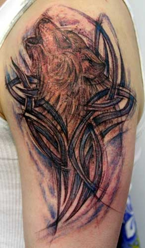 Tattoo tattooz cool tribal wolf tattoos 2011 for Tribal wolf tattoo