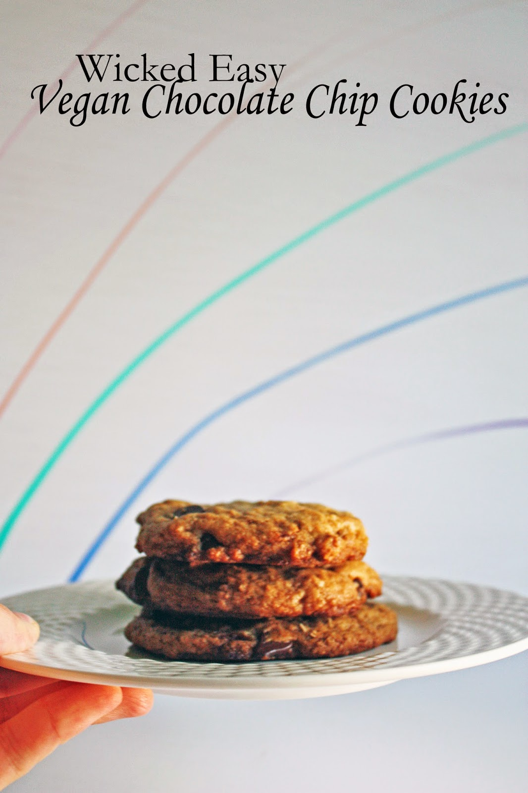 wicked easy classic vegan chocolate chip cookies