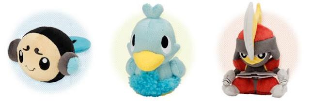 Pokemon Plush Pokedoll Tympole Ducklett Bisharp PokeCenJP