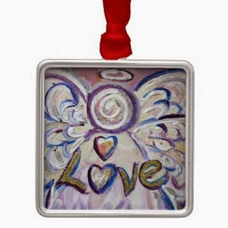 Love Angel Word Ornament