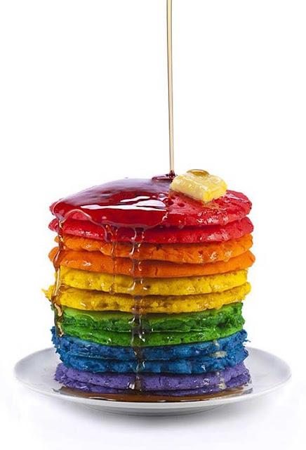 color pancakes