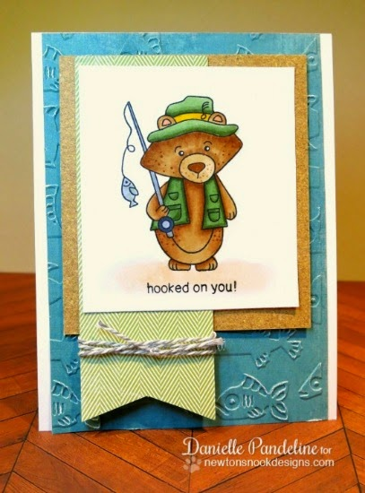 Hooked on You Card by Danielle Pandeline | Campfire Tails Stamp set by Newton's Nook Designs