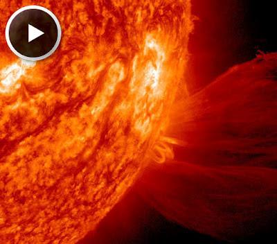 Llamarada solar clase M1.0 video