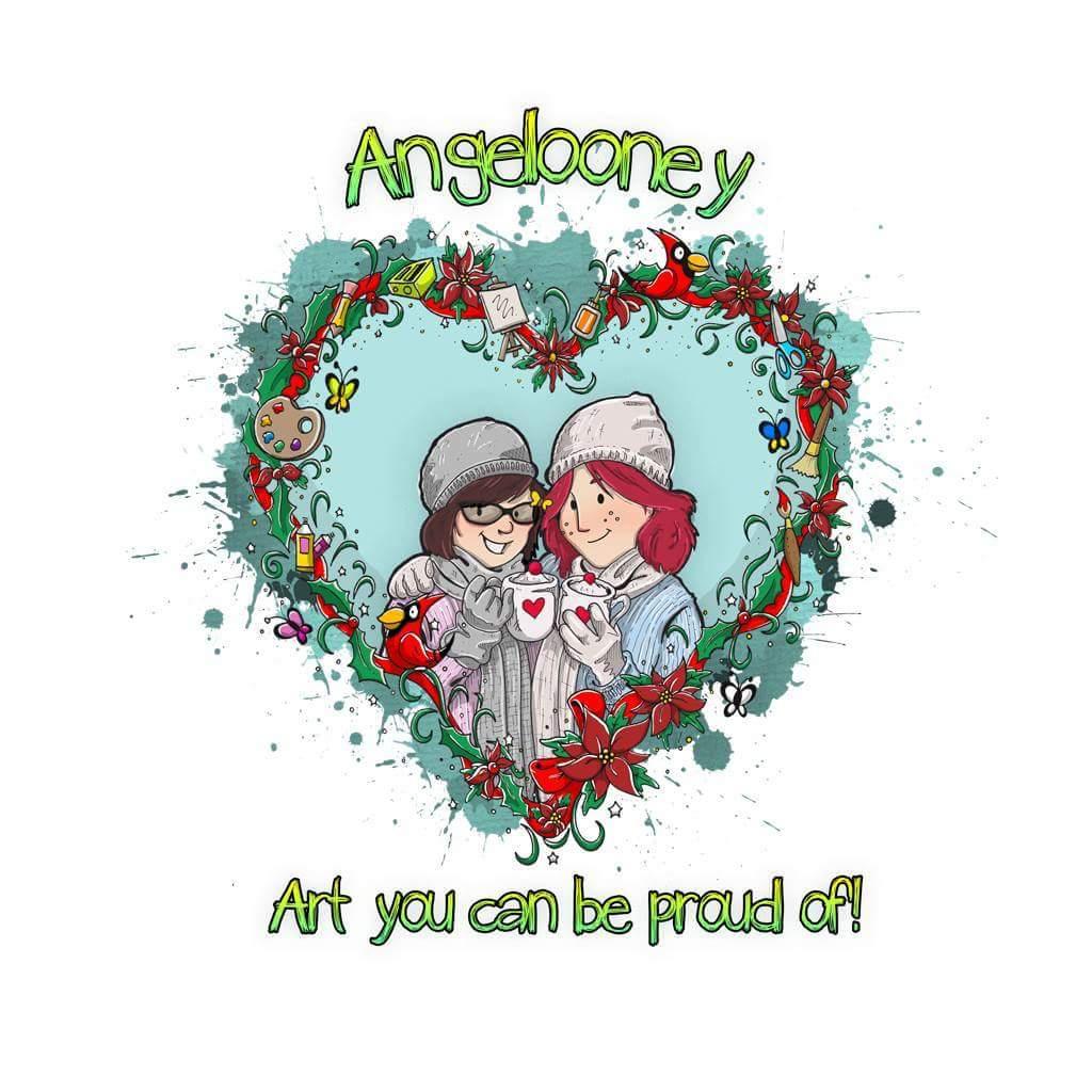 angela anderson art blog cardinal acrylic painting angelooney