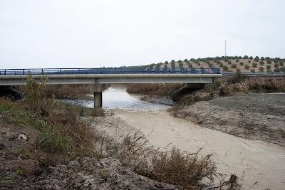 El nuevo puente sobre Salado en las inundaciones de diciembre de 2009