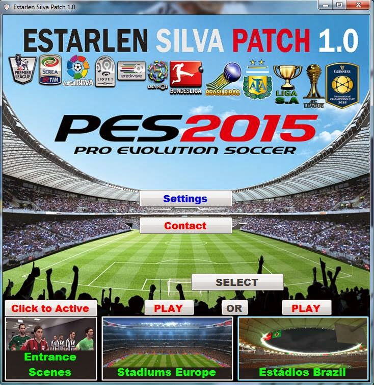 Patch PES 2015 Terbaru dari Esterlan Silva Patch 1.0 + FIX