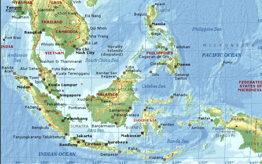 Map of Southeast Asia Countries