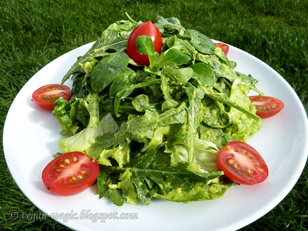 Green Salad with Avocado Dressing