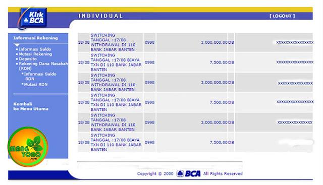 Saya kena potongan penarikan Rp. 7.500, sekali tarik..