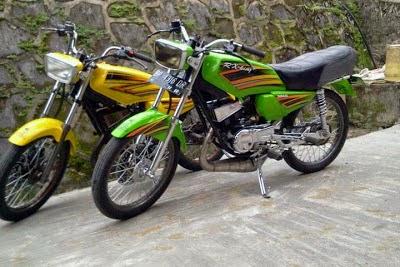 Modif Motor Rx King Warna Putih
