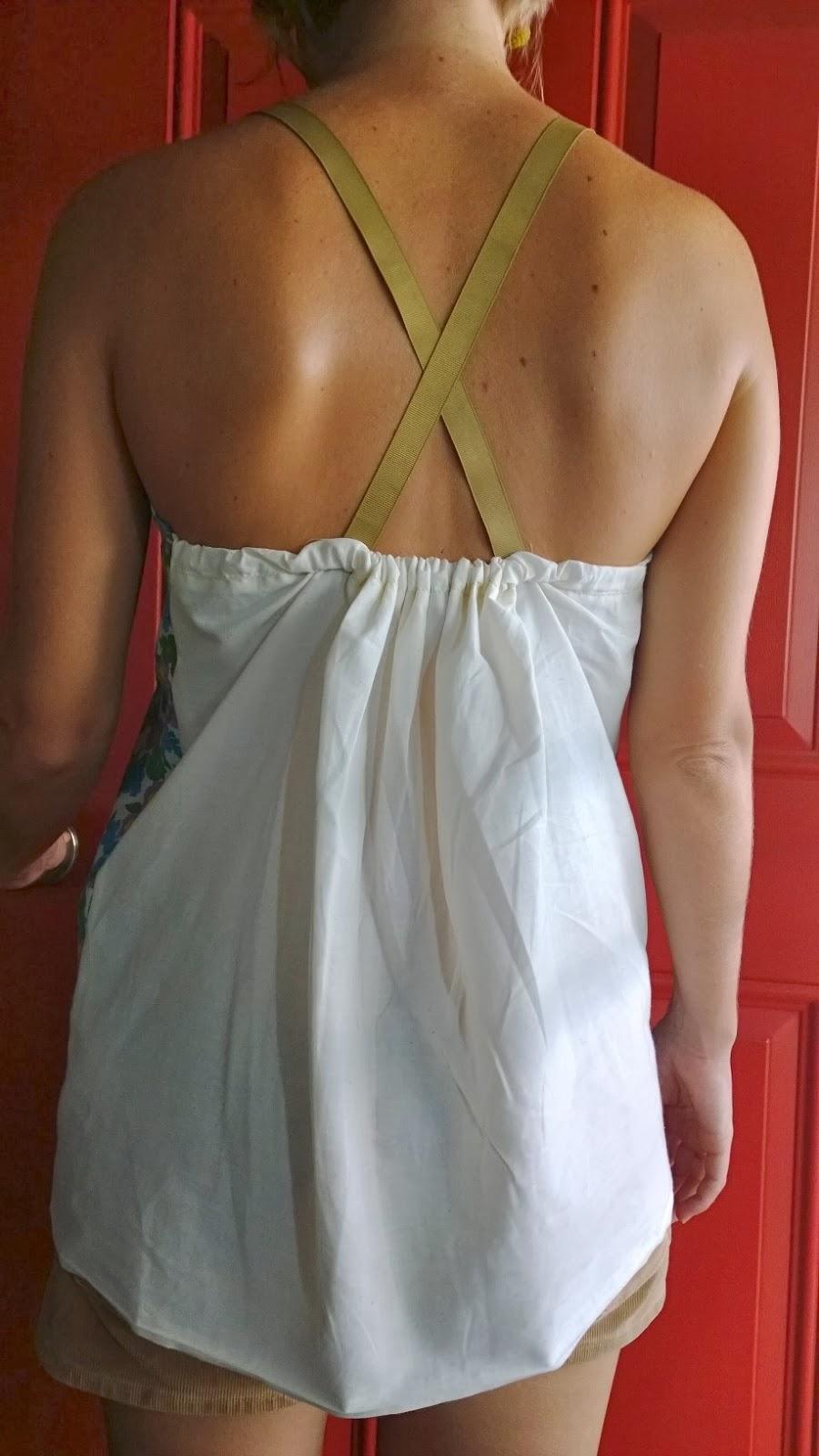 back view vintage fabric shirt