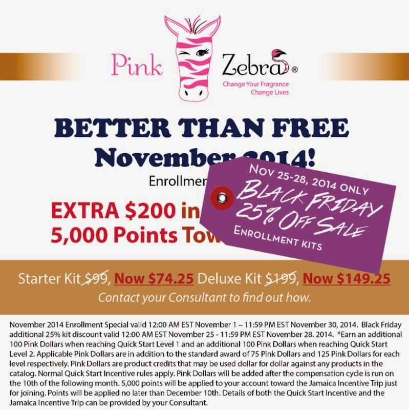 Pink Zebra Black Friday Sale