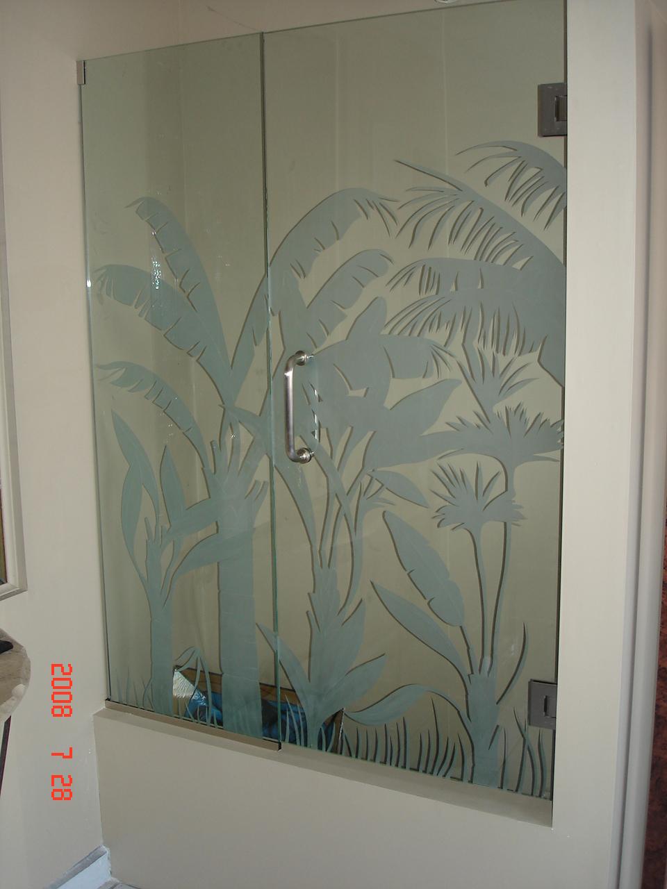 Puertas Para Baño Cr:vitrales Arenados Puertas Para Baño: Arenados