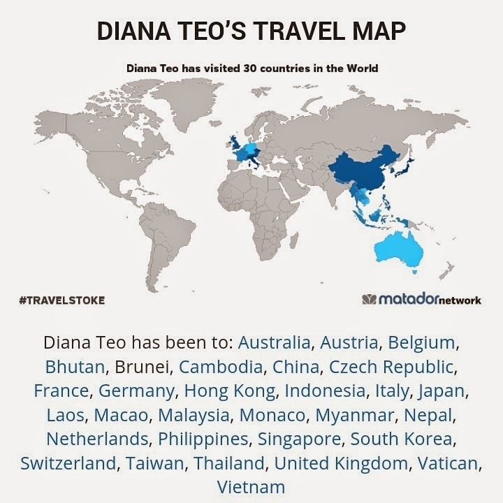 Diana Teo's Travel Map