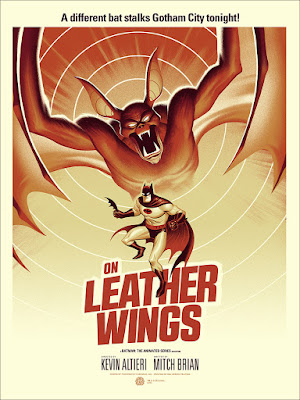 "Batman The Animated Series ""On Leather Wings"" Screen Print by Phantom City Creative & Mondo"