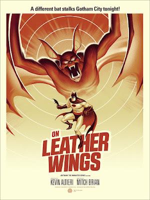 "Batman The Animated Series ""On Leather Wings"" Screen Print by Phantom City Creative & Mondo"
