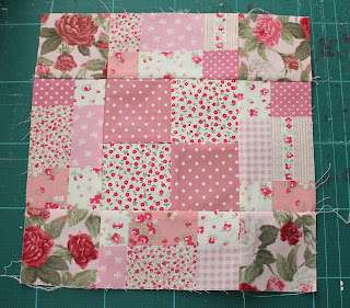 Chequer square patchwork block