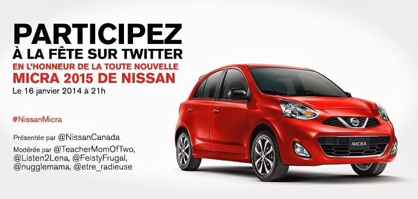 Prêts pour un party Twitter avec #NissanMicra (RSVP)