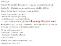 Shahpadu Jawatan Kosong Offshore Onshore