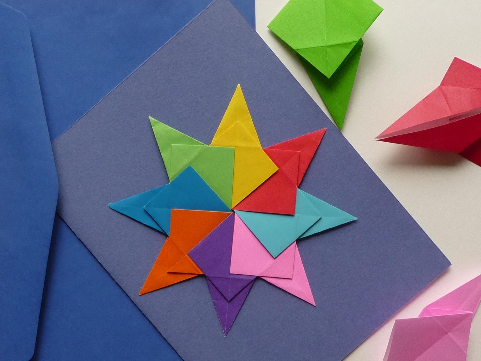Оригами с детьми открытки