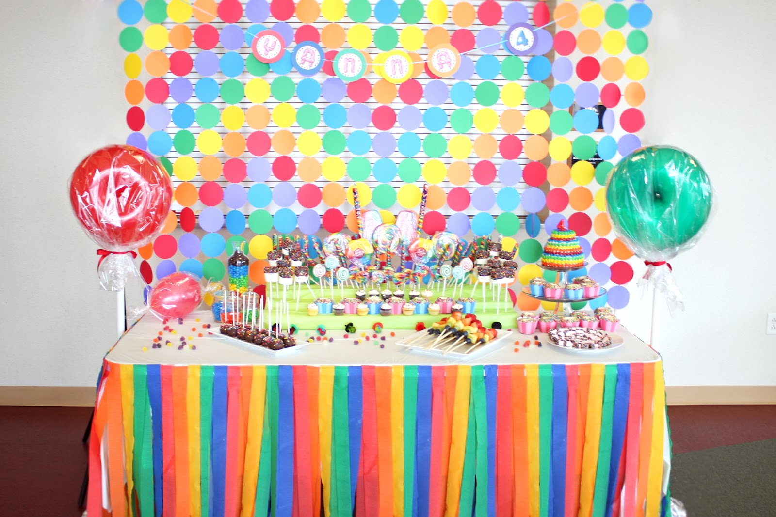 Candy Land Birthday Party : candy themed paper plates - pezcame.com