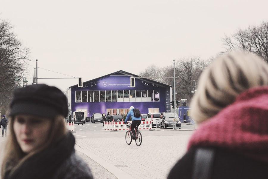 berlin fashion week main tent purple