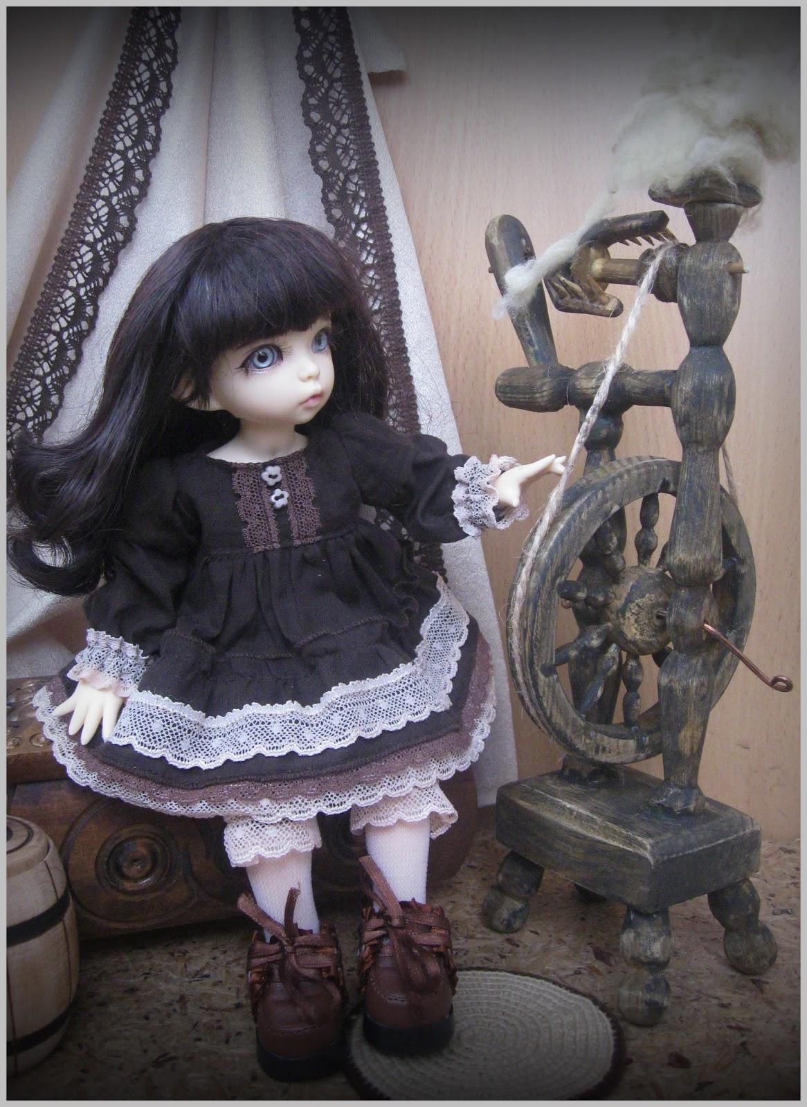 Прялка для кукол своими руками