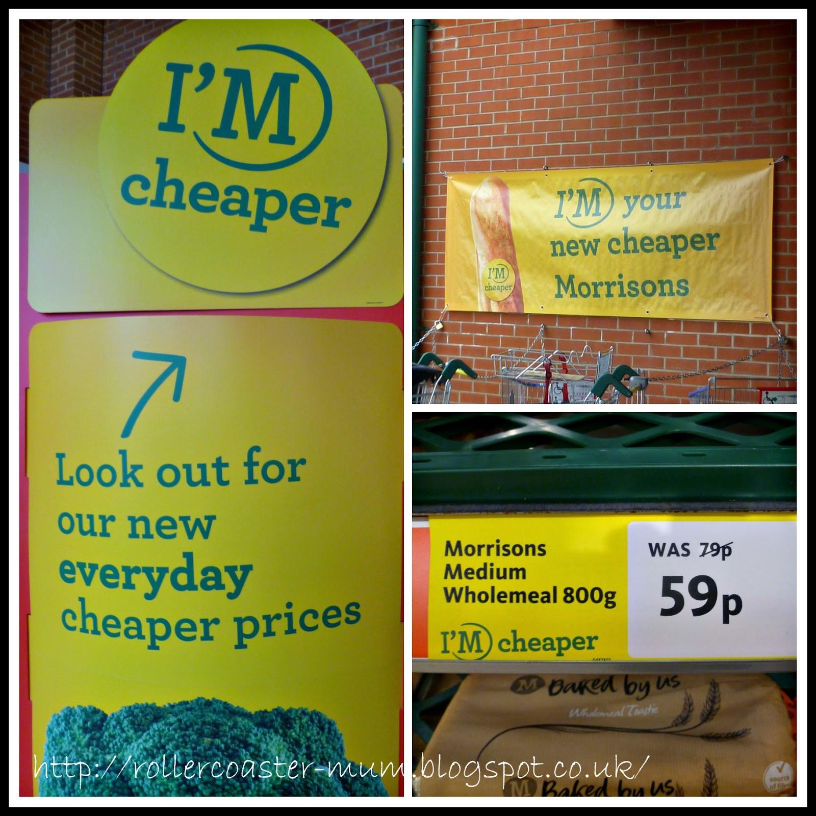 Morrisons I'm Cheaper campaign posters #MorrisonsMum