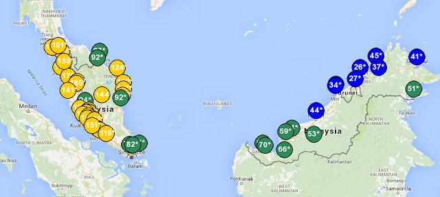 Semak Bacaan IPU Jerebu Negeri Di Malaysia
