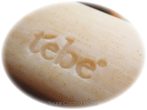 Tebe logo on soap
