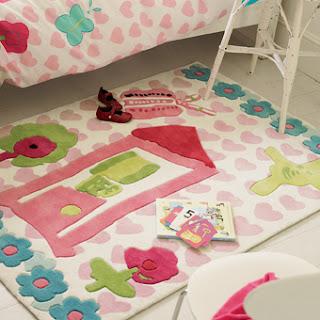 Quarto de crian a tapetes para quarto de menina - Alfombra habitacion bebe ...