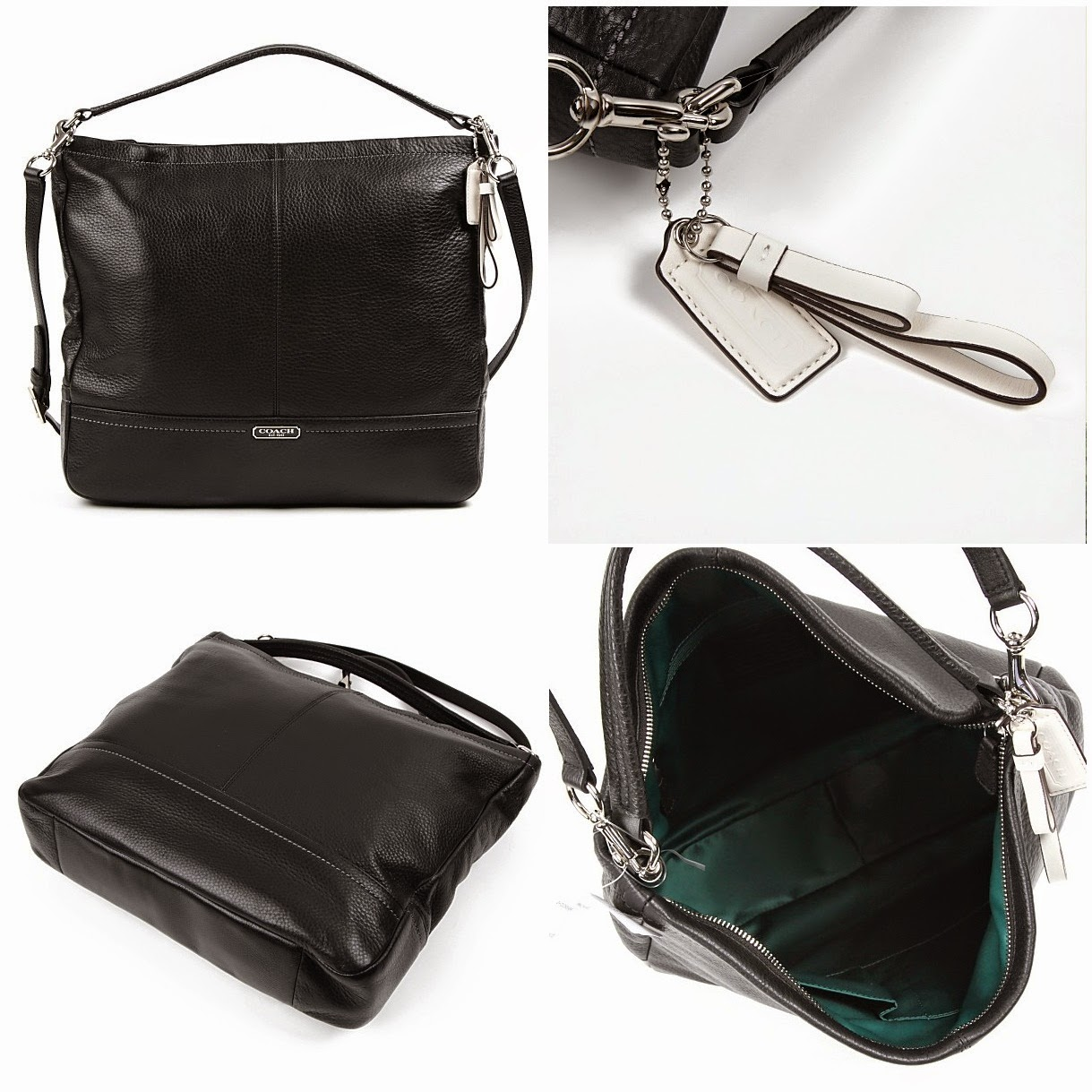 COACH Park Leather Hobo 23293
