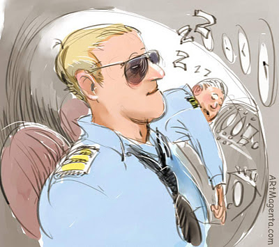 Sleeping pilots is a cartoon by digital artist and illustrator Artmagenta