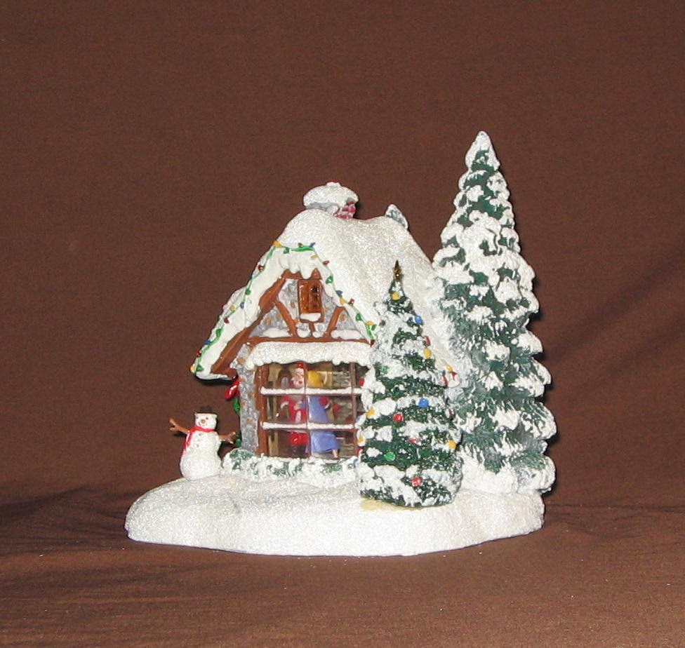 Buy the Teleflora 2014 Thomas Kinkade Kiss for Santa Cottage