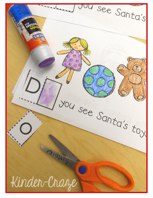 "cut and glue ""do"" into each sentence - interactive sight word practice"