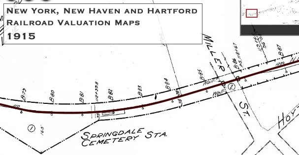 Springdale Cemetary Station Map