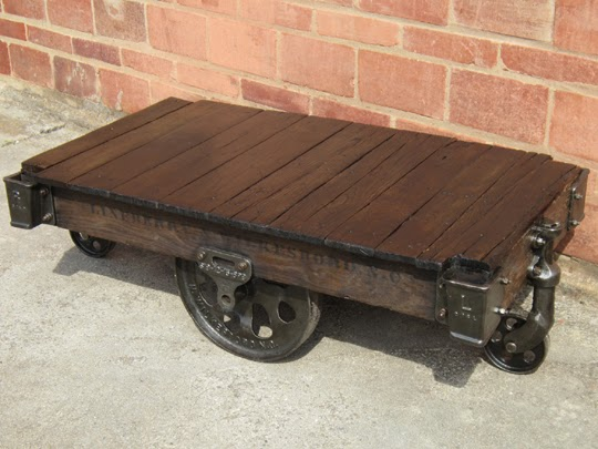 Cast Iron Furniture Factory Cart Coffee Table