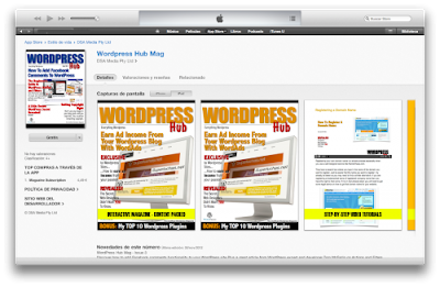 Hub , WordPress magazine for the iPad