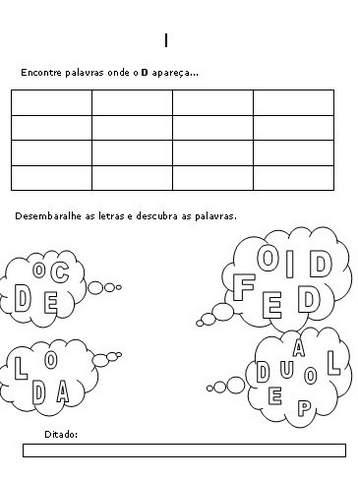 Atividades para Educação Infantil