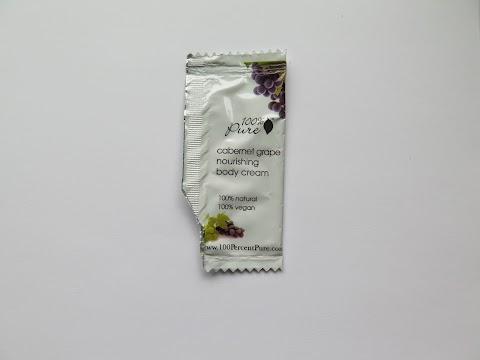 100% pure cabernet grape nourishing body cream/ 100% pure honey almond nourishing body cream