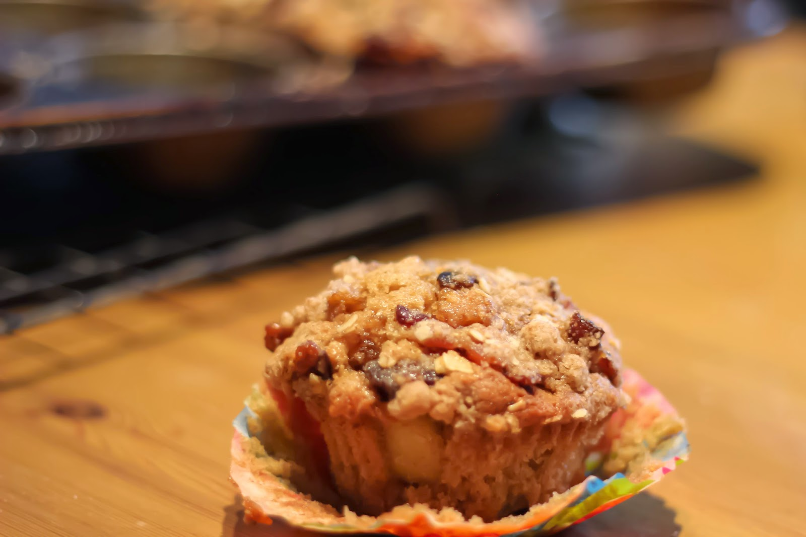 Maple Apple Bacon Crumble Muffins