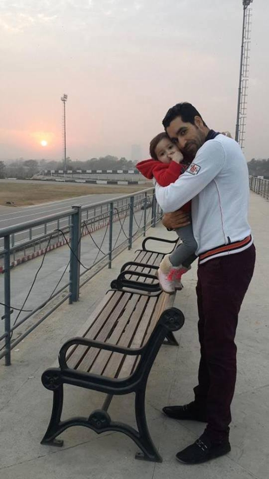 Umer Gul with his daughter Rehaab