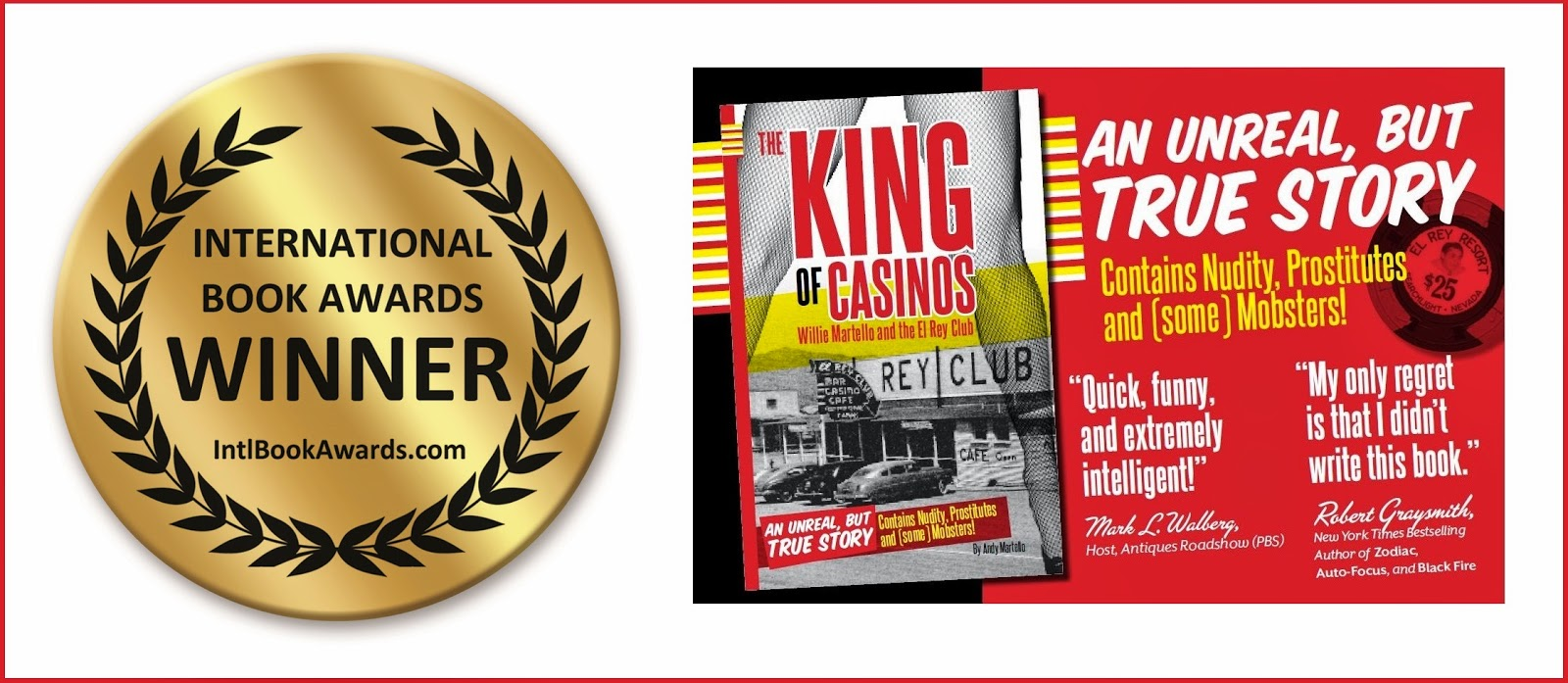King of Casino WINNER International Book Awards