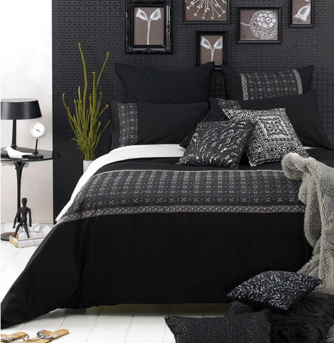 Black and white bedroom decorating ideas dream house for Bedroom designs black and grey