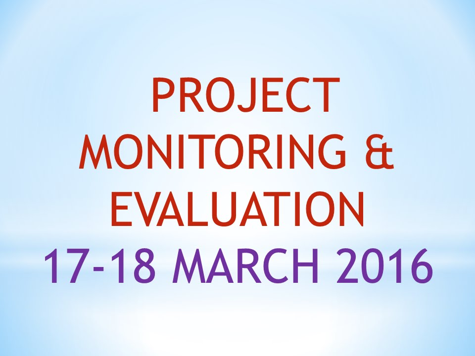 7. Project monitoring & evaluation