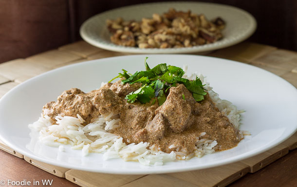 Click for recipe for Katmis Satsivi - Chicken with Walnut Sauce