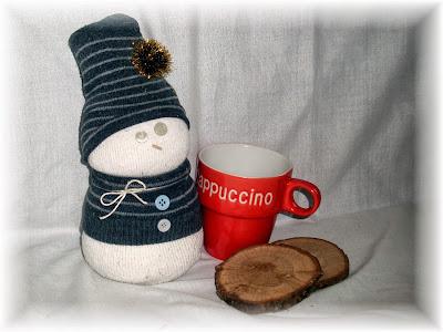 un bonhomme de neige avec une chaussette le blog de la f e f erique. Black Bedroom Furniture Sets. Home Design Ideas